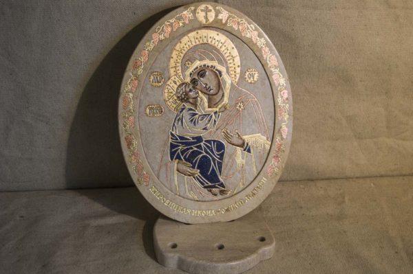 Икона Жировицкой (Жировичской) Божией Матери № 38 из мрамора, камня, изображение, фото 3