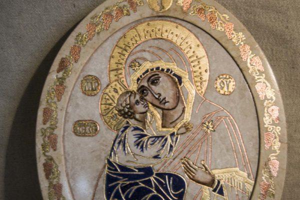 Икона Жировицкой (Жировичской) Божией Матери № 38 из мрамора, камня, изображение, фото 2
