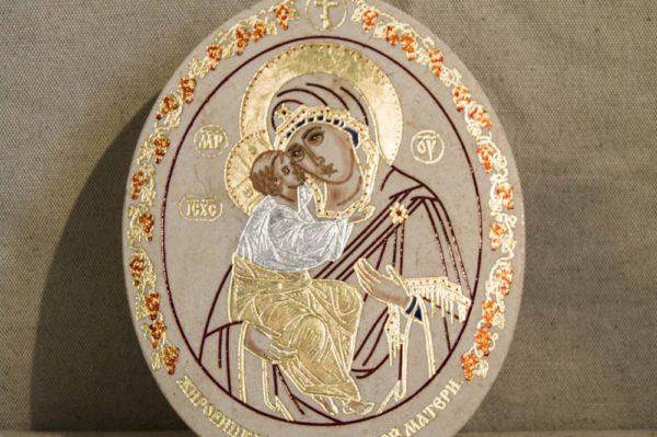 Икона Жировицкой (Жировичской) Божией Матери № 39 из мрамора, камня, изображение, фото 4