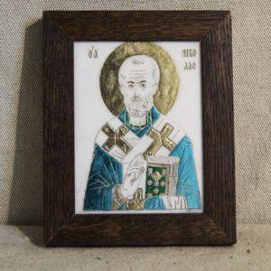 Икона Николая Чудотворца (Угодника) № 11 из мрамора, камня, изображение, фото 1