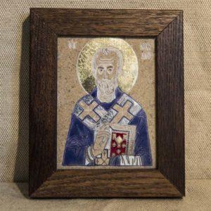 Икона Николая Чудотворца (Угодника) № 16 из мрамора, камня, изображение, фото 1