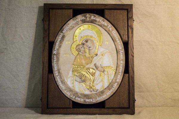 Икона Жировицкой (Жировичской) Божией Матери № п-10 из мрамора, камня, изображение, фото 3