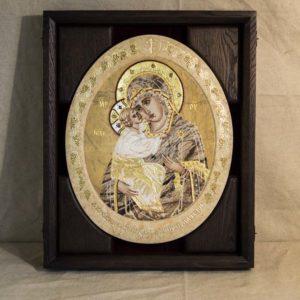 Икона Жировицкой (Жировичской) Божией Матери № п-11 из мрамора, камня, изображение, фото 3