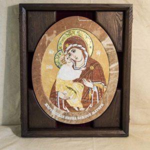 Икона Жировицкой (Жировичской) Божией Матери № п-12 из мрамора, камня, изображение, фото 5