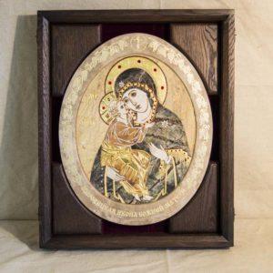 Икона Жировицкой (Жировичской) Божией Матери № п-13 из мрамора, камня, изображение, фото 5