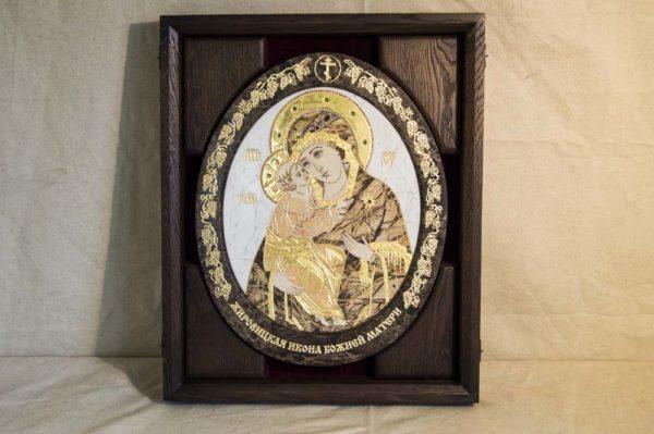 Икона Жировицкой (Жировичской) Божией Матери № п-14 из мрамора, камня, изображение, фото 2