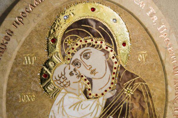 Икона Жировицкой (Жировичской) Божией Матери № п-15 из мрамора, камня, изображение, фото 7
