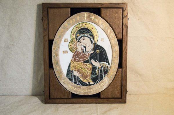 Икона Жировицкой (Жировичской) Божией Матери № п-17 из мрамора, камня, изображение, фото 7