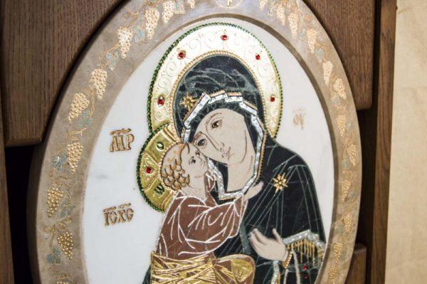 Икона Жировицкой (Жировичской) Божией Матери № п-17 из мрамора, камня, изображение, фото 2