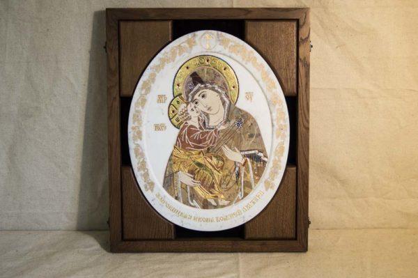 Икона Жировицкой (Жировичской) Божией Матери № п-18 из мрамора, камня, изображение, фото 3