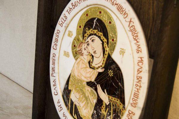 Икона Жировицкой (Жировичской) Божией Матери № п-19 из мрамора, камня, изображение, фото 3