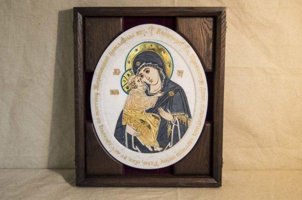Икона Жировицкой (Жировичской) Божией Матери № п-21 из мрамора, камня, изображение, фото 7