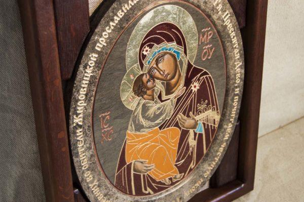 Икона Жировицкой (Жировичской) Божией Матери № 015 из мрамора, камня, изображение, фото 1