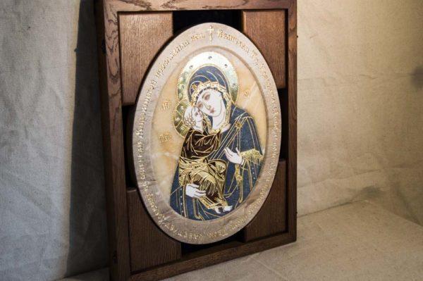 Икона Жировицкой (Жировичской) Божией Матери № п-23 из мрамора, камня, изображение, фото 5