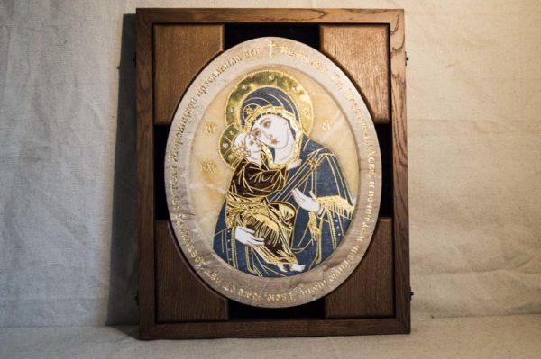 Икона Жировицкой (Жировичской) Божией Матери № п-23 из мрамора, камня, изображение, фото 2