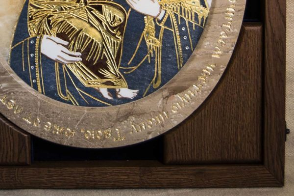 Икона Жировицкой (Жировичской) Божией Матери № п-23 из мрамора, камня, изображение, фото 3