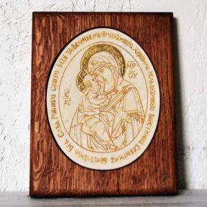 Икона Жировицкой (Жировичской) Божией Матери № 13 из мрамора, камня, изображение, фото 1