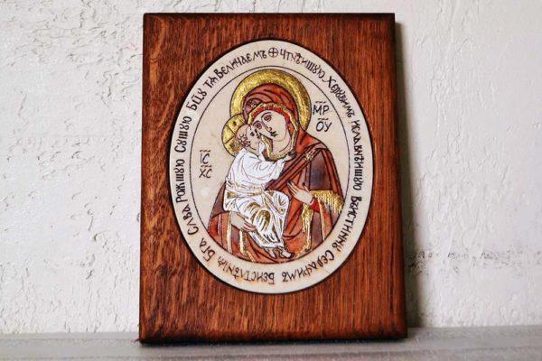 Икона Жировицкой (Жировичской) Божией Матери № 15 из мрамора, камня, изображение, фото 1