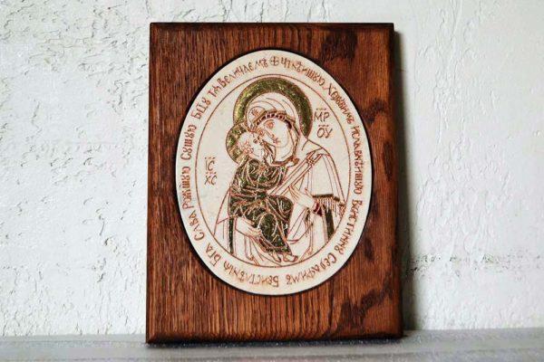 Икона Жировицкой (Жировичской) Божией Матери № 23 из мрамора, камня, изображение, фото 1