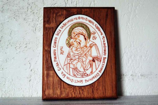 Икона Жировицкой (Жировичской) Божией Матери № 24 из мрамора, камня, изображение, фото 1
