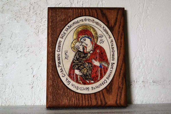 Икона Жировицкой (Жировичской) Божией Матери № 40 из мрамора, камня, изображение, фото 1
