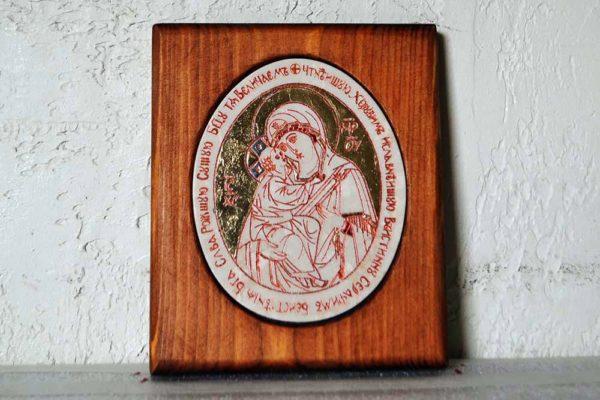 Икона Жировицкой (Жировичской) Божией Матери № 44 из мрамора, камня, изображение, фото 1