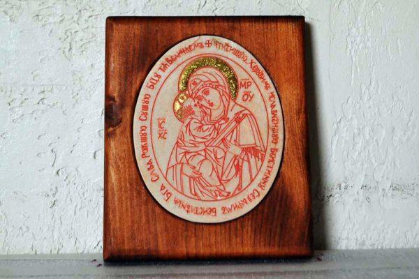 Икона Жировицкой (Жировичской) Божией Матери № 45 из мрамора, камня, изображение, фото 1
