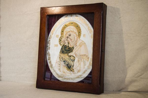 Икона Жировицкой (Жировичской) Божией Матери № п-25 из мрамора, камня, изображение, фото 8