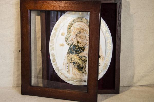 Икона Жировицкой (Жировичской) Божией Матери № п-25 из мрамора, камня, изображение, фото 3