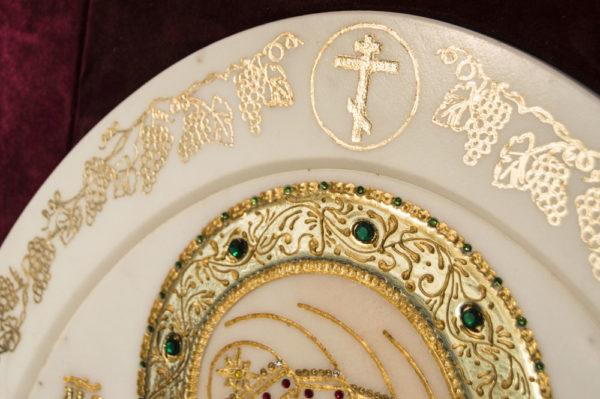 Икона Жировицкой (Жировичской) Божией Матери № п-25 из мрамора, камня, изображение, фото 1
