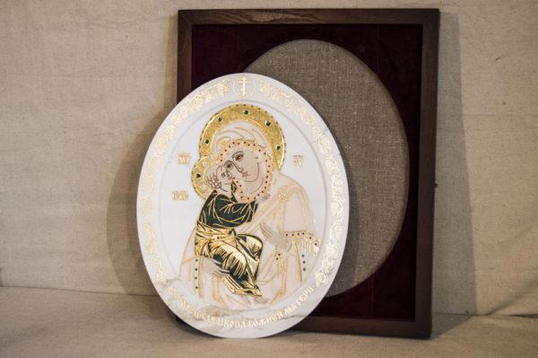 Икона Жировицкой (Жировичской) Божией Матери № п-25 из мрамора, камня, изображение, фото 9