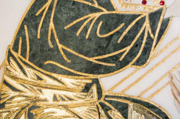 Икона Жировицкой (Жировичской) Божией Матери № п-25 из мрамора, камня, изображение, фото 6