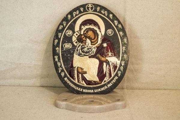 Икона Жировицкой (Жировичской) Божией Матери № 016 из мрамора, камня, изображение, фото 4