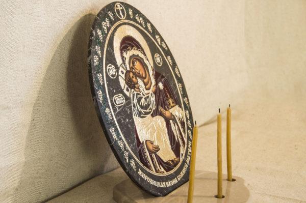Икона Жировицкой (Жировичской) Божией Матери № 016 из мрамора, камня, изображение, фото 2