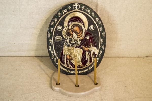 Икона Жировицкой (Жировичской) Божией Матери № 016 из мрамора, камня, изображение, фото 5