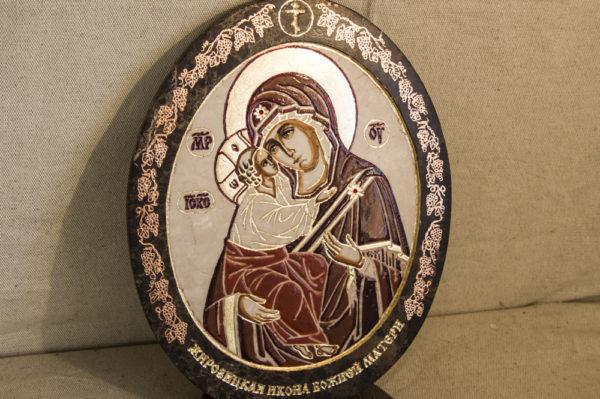 Икона Жировицкой (Жировичской) Божией Матери № 47 из мрамора, камня, изображение, фото 6