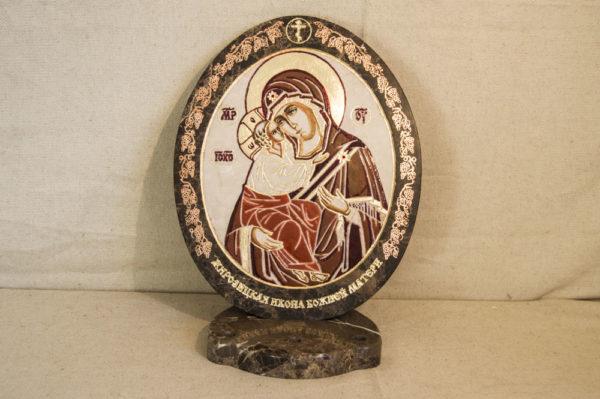 Икона Жировицкой (Жировичской) Божией Матери № 47 из мрамора, камня, изображение, фото 2