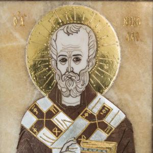 Икона Николая Чудотворца (Угодника) инд.№ 07 из мрамора, камня, изображение, фото 3