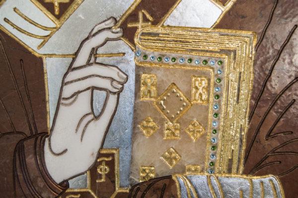 Икона Николая Чудотворца (Угодника) инд.№ 07 из мрамора, камня, изображение, фото 1