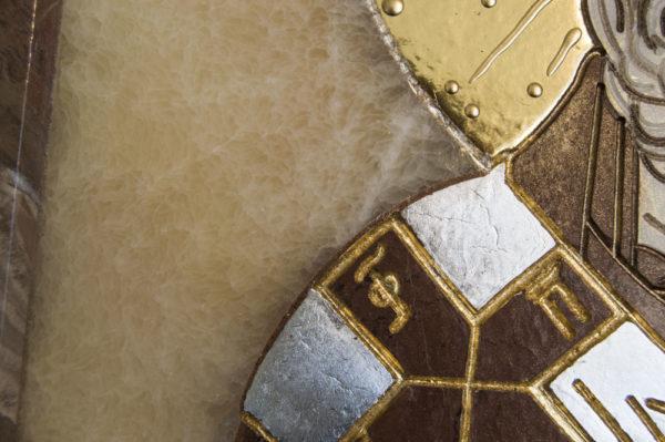 Икона Николая Чудотворца (Угодника) инд.№ 07 из мрамора, камня, изображение, фото 2