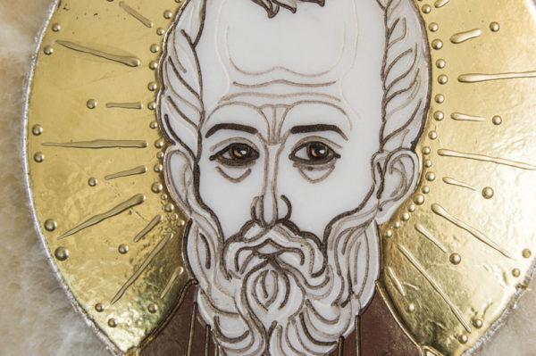 Икона Николая Чудотворца (Угодника) инд.№ 07 из мрамора, камня, изображение, фото 6