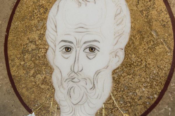 Икона Николая Чудотворца (Угодника) инд.№ 08 из мрамора, камня, изображение, фото 4