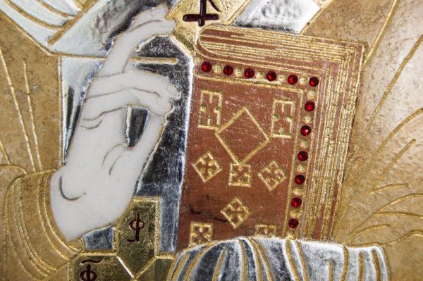 Икона Николая Чудотворца (Угодника) инд.№ 08 из мрамора, камня, изображение, фото 5