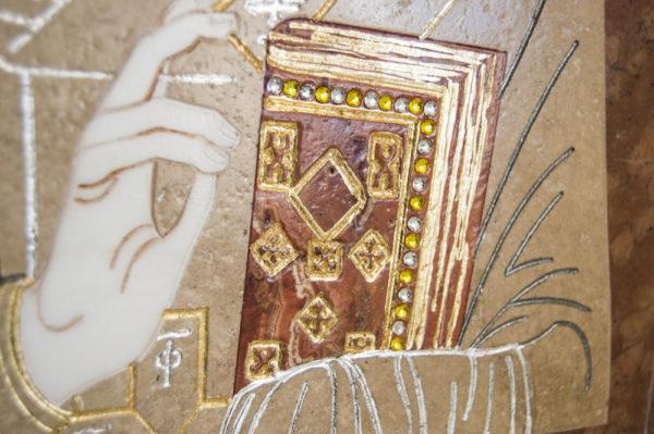 Икона Николая Чудотворца (Угодника) инд.№ 09 из мрамора, камня, изображение, фото 3