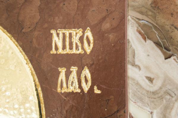 Икона Николая Чудотворца (Угодника) инд.№ 09 из мрамора, камня, изображение, фото 1