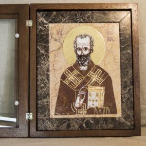 Икона Николая Чудотворца (Угодника) инд.№ 11 из мрамора, камня, изображение, фото 7