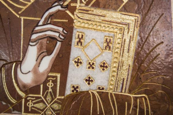 Икона Николая Чудотворца (Угодника) инд.№ 11 из мрамора, камня, изображение, фото 1
