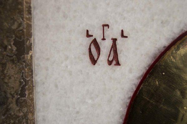 Икона Николая Чудотворца (Угодника) инд.№ 12 из мрамора, камня, изображение, фото 7