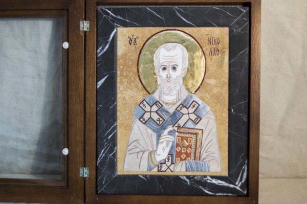 Икона Николая Чудотворца (Угодника) инд.№ 13 из мрамора, камня, изображение, фото 8