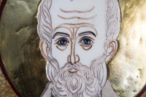 Икона Николая Чудотворца (Угодника) инд.№ 13 из мрамора, камня, изображение, фото 1